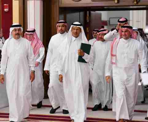 Saudi Energy minister Prince Abdulaziz bin Salman attends a news conference in Jeddah, Saudi Arabia September 17, 2019.  REUTERS/Waleed Ali - RC1496A3D9B0