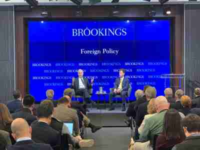 76th Secretary of the Navy speaks at Brookings.