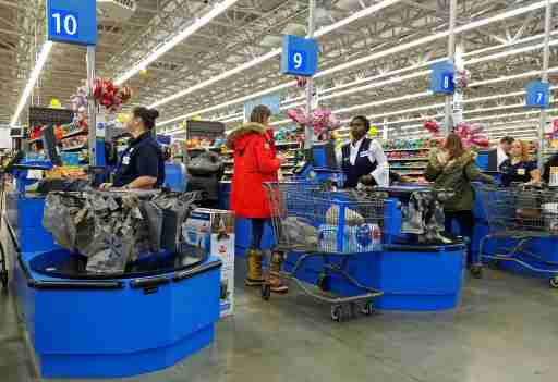 Cashier workers