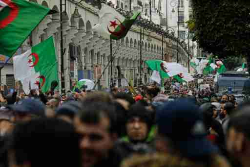Anti-government demonstration in the center of the capital Algiers, Algeria on January 10, 2020. Photo by Louiza Ammi/ABACAPRESS.COM