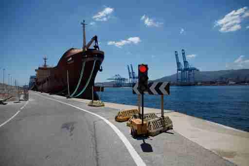 """Moldovan cargo ship, """"Prosperity"""", is docked at the port of Algeciras, Spain May 31, 2018. REUTERS/Jon Nazca"""