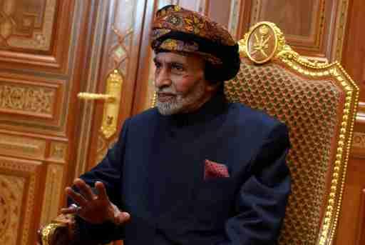 FILE PHOTO: Sultan of Oman Qaboos bin Said al-Said at the Beit Al Baraka Royal Palace in Muscat, Oman January 14, 2019. Andrew Caballero-Reynolds/Pool  via REUTERS/File Photo