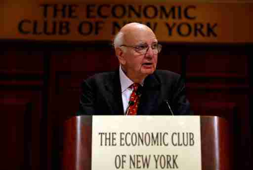 Former Chairman of the U.S. Federal Reserve Paul Volcker addresses the Economic Club of New York May 29, 2013. REUTERS/Mike Segar (UNITED STATES - Tags: BUSINESS)