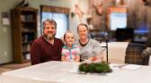 Jonathan Yoder and his family
