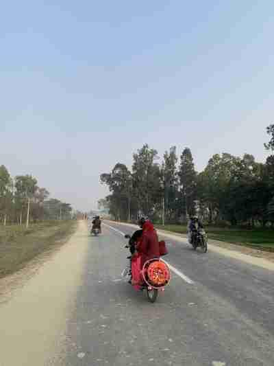 Hulaki Rajmarg or Postal highway in Janakpur, Nepal