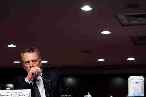 U.S. Trade Representative Robert Lighthizer listens during a Senate Finance Committee hearing on President Donald Trump's 2020 Trade Policy Agenda on Capitol Hill in Washington, D.C., U.S., June 17, 2020. Anna Moneymaker/Pool via REUTERS