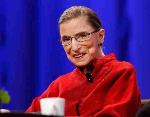 FILE PHOTO: Justice Ruth Bader Ginsburg attends the lunch session of The Women's Conference in Long Beach, California October 26, 2010. REUTERS/Mario Anzuoni/File Photo