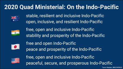 Quad ministerial on the Indo-Pacific