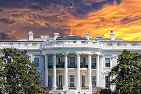 White House at Sunset. Source: Shutterstock.