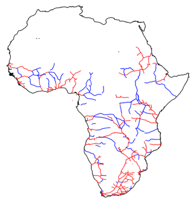 Figure 3. Colonial railroad network