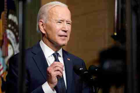 U.S. President Joe Biden leaves delivers remarks on his plan to withdraw American troops from Afghanistan, at the White House, Washington, U.S., April 14, 2021. Andrew Harnik/Pool via REUTERS