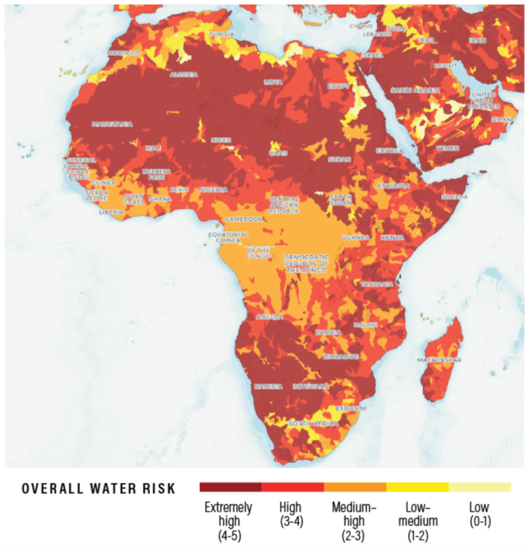 Figure 1. Africa faces some of the highest water risk in the world