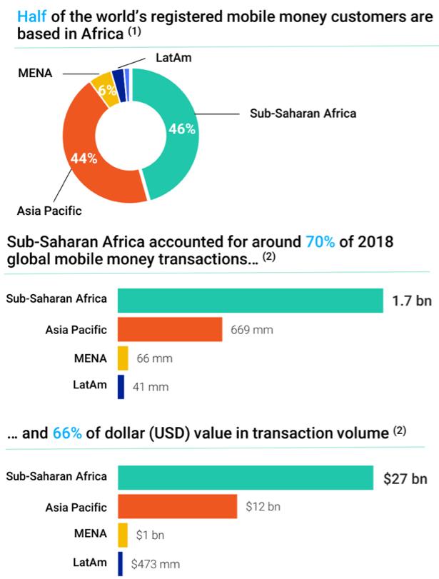 Figure 1. Composition of sub-Saharan Africa's mobile money utilization