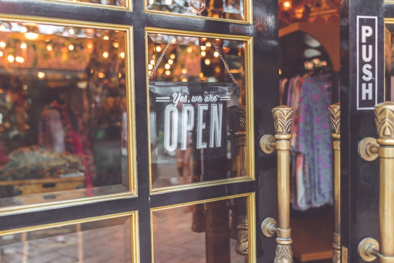 Decorative photo of storefront.