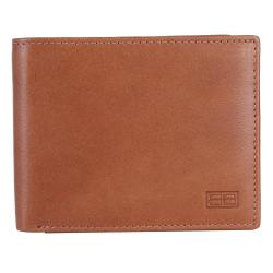 RFID Blocking Bifold Genuine Leather Wallet For Men With Coin Pocket | Tan