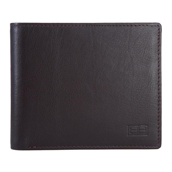 RFID Blocking Bifold Genuine Leather Wallet For Men With Coin Pocket | Dark Brown