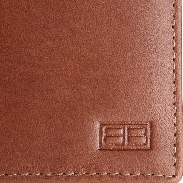 RFID Blocking Bifold Genuine Leather Slim Leather Wallet For Men | Tan