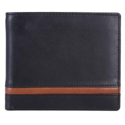RFID Blocking Bifold Genuine Leather Slim Wallet For Men | Black