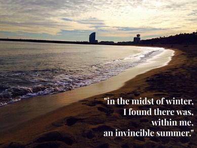 summer sets upon a familiar coastline.