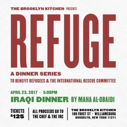 refuge dinner series brooklyn kitchen
