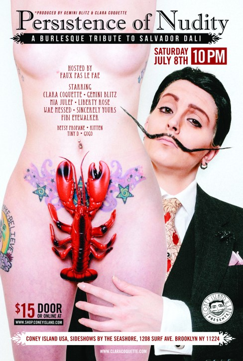 the persistence of nudity | a burlesque tribute to salvador dali