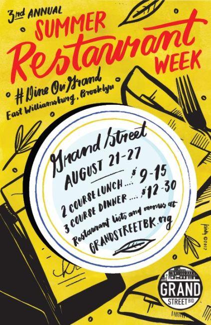 grand street restaurant week
