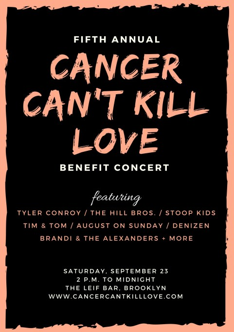 cancer can't kill love benefit concert