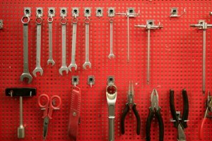 Organize your space in the garage