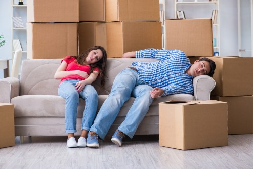 Brooklyn Home Sellers resting after packing.