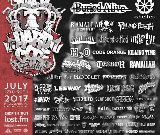 This Is Hardcore 2017 Lineup Shelter Buried Alive Ramallah Bfb Madball More