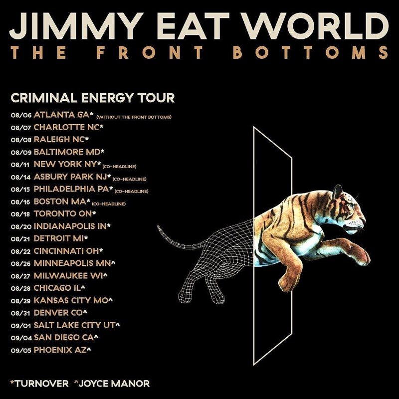 Jimmy Eat World Front Bottoms