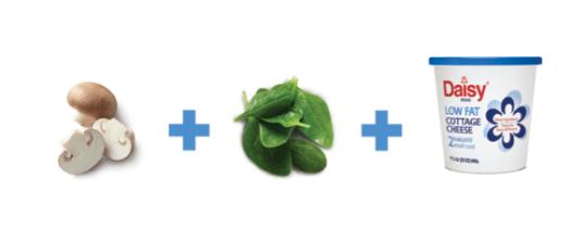 Daisy Mushroom Spinach