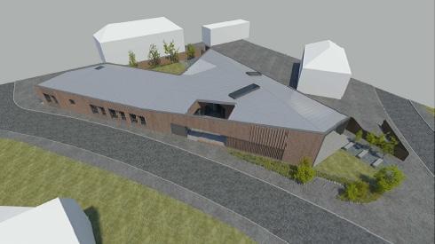 Architect's imagining of the new hub