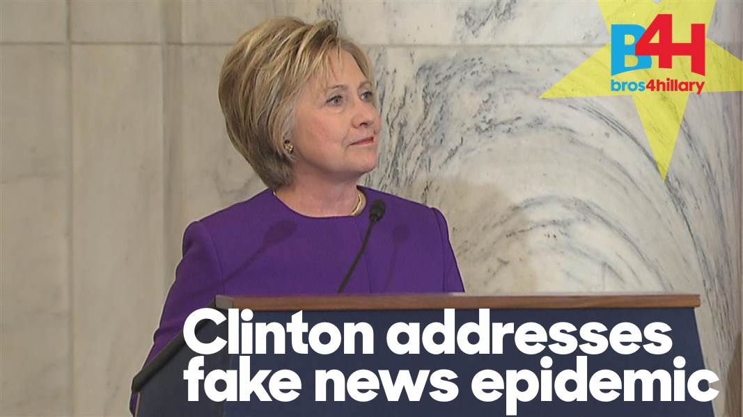 Hillary Clinton says fake news is putting lives at risk