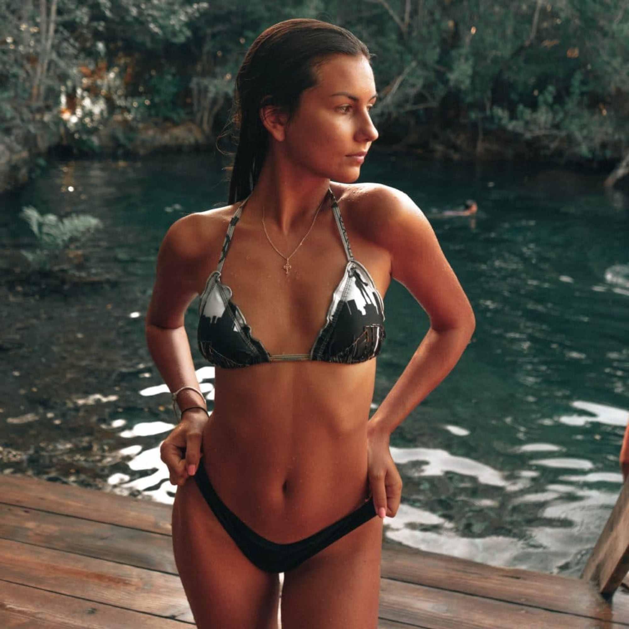 Anastasiia Boivka Bikini Dock