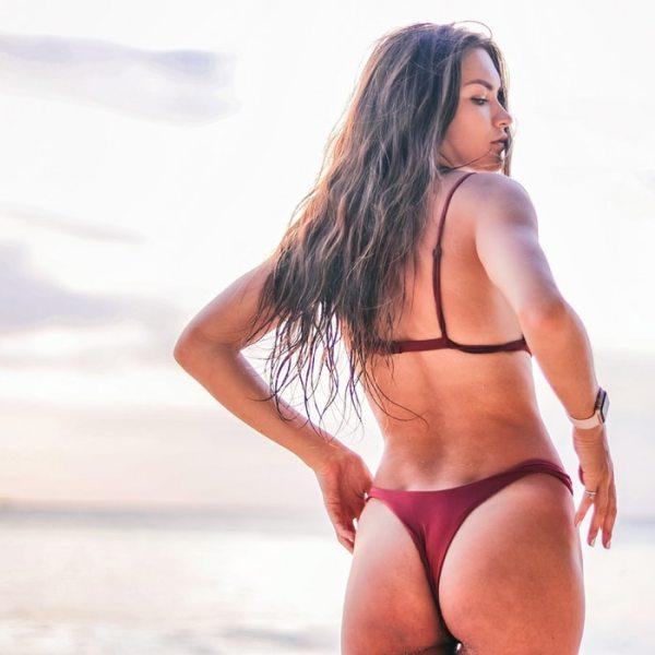 Diana Lukmanova Red Bikini Butt
