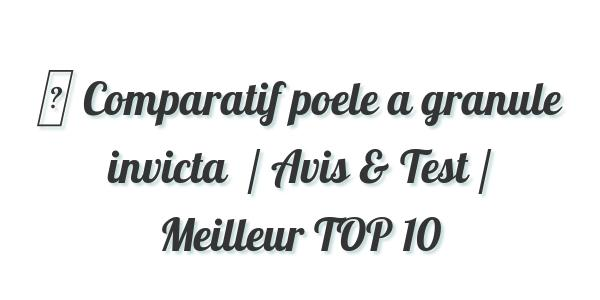Comparatif Poele A Granule Invicta 2020 Avis Test Prix Meilleur Top 10