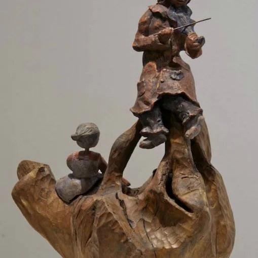 sculpture-violoniste