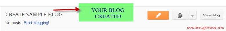 Create BlogSpot Blog