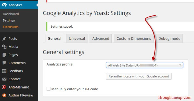 google-analytics-for-wordpress-settings