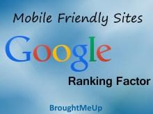 Mobile Friendly Sites Google ranking factor