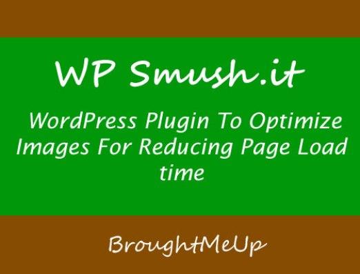 wp smush.it wordpress plugin to optimize images