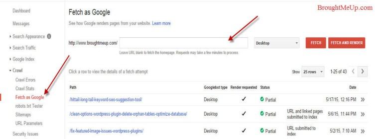 Check Robots.txt errors using Fetch as Google