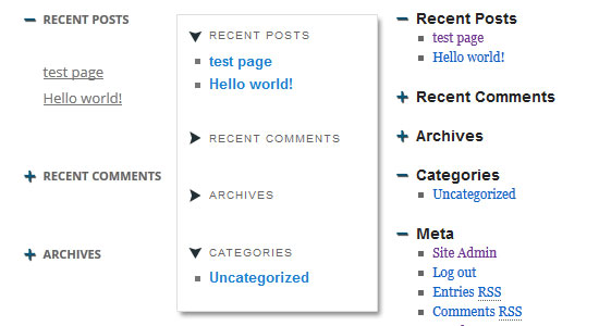 sticky accordion widget WordPress plugin
