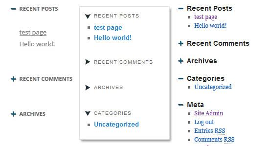 sticky accordion widget WordPress plugin