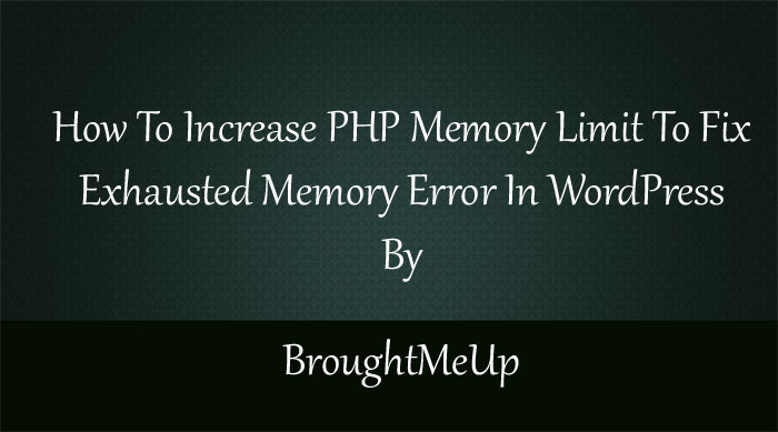 increase php memory limit in wordpress