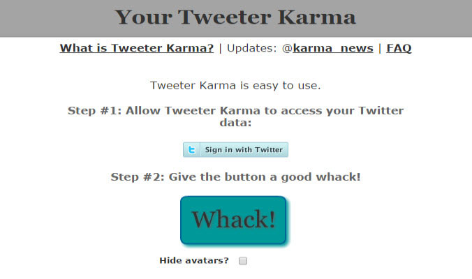 Twitter Karma twitter tool to unfollow non followers
