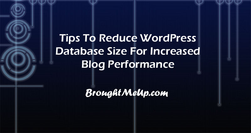 clean and Reduce WordPress Database Size