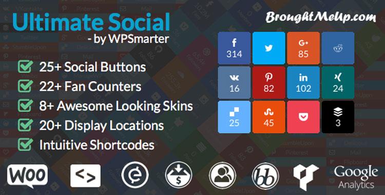 best wordpress social media sharing Ultimate social deux plugin