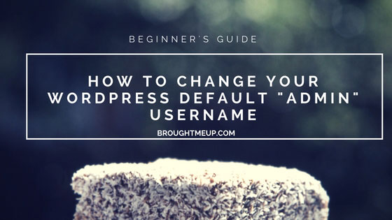 How to change your wordpress username